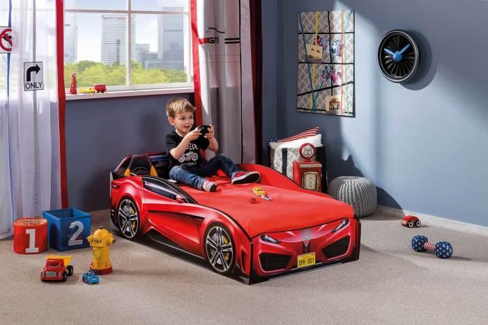 מיטת מעבר מכונית אדומה