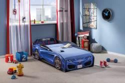 מיטת מעבר אוטו כחול