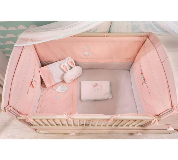 סט מצעים למיטת תינוק בייבי גירל