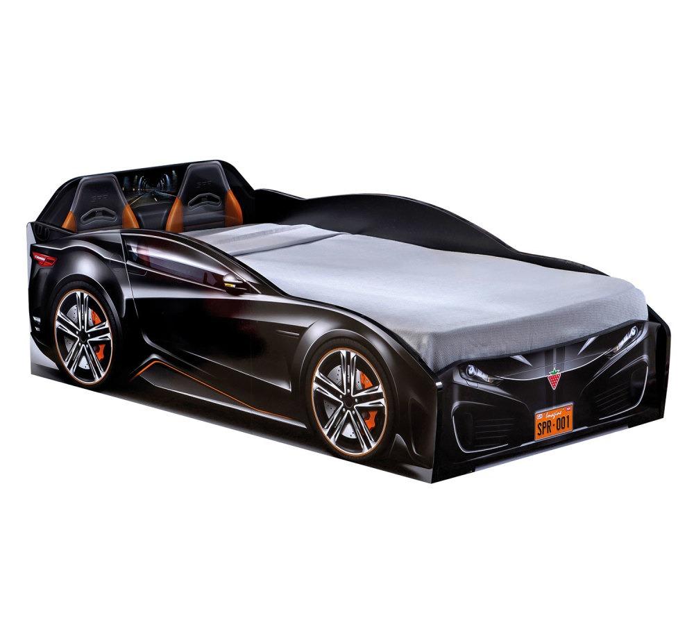 מיטת מעבר מכונית שחורה