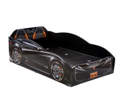 מיטת מעבר מכונית שחור