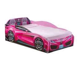 מיטת מעבר מכונית ורודה