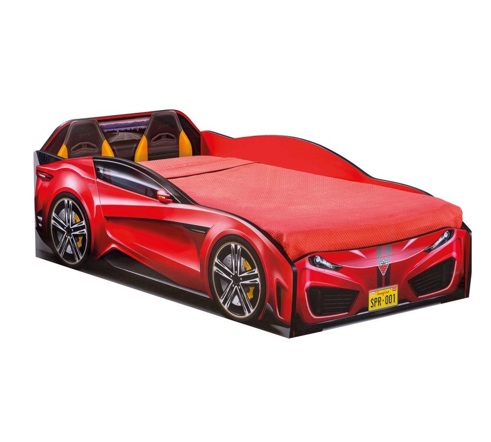 מיטת מעבר מכונית אדום