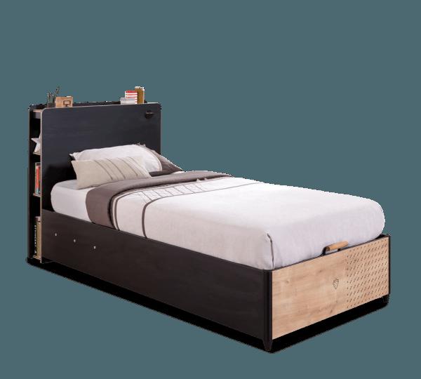 מיטה עם ארגז מצעים בלאק