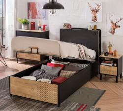 מיטה עם ארגז מצעים BLACK